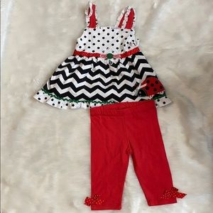 Nannette kids Lady Bug outfit
